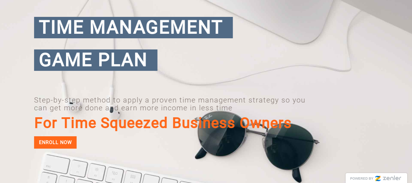 Time Management for time squeezed business owners course