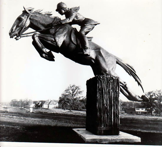 This equestrian statue has been a landmark of Fox Chase Boulevard for over 45 years.