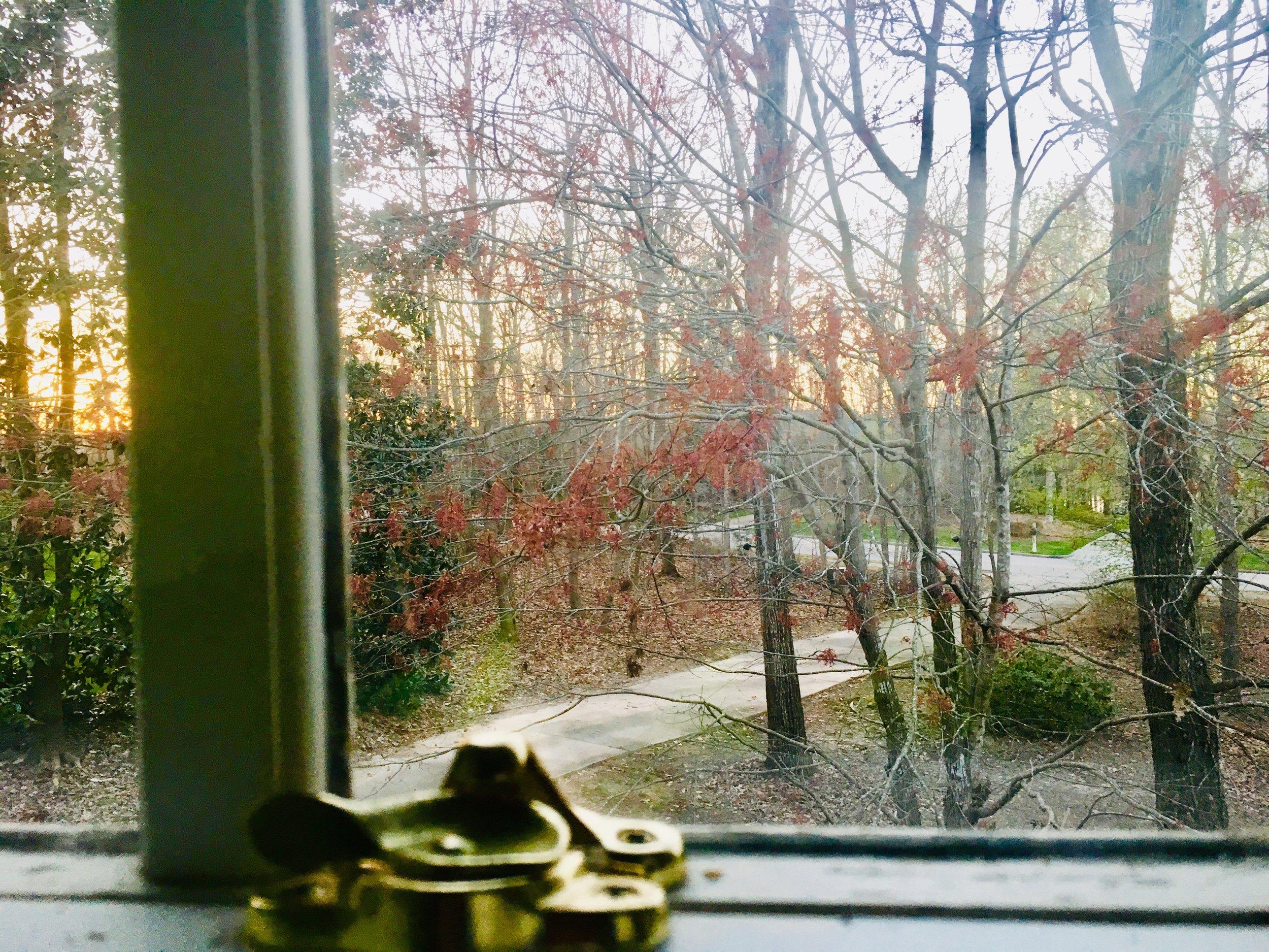 autumn window brass