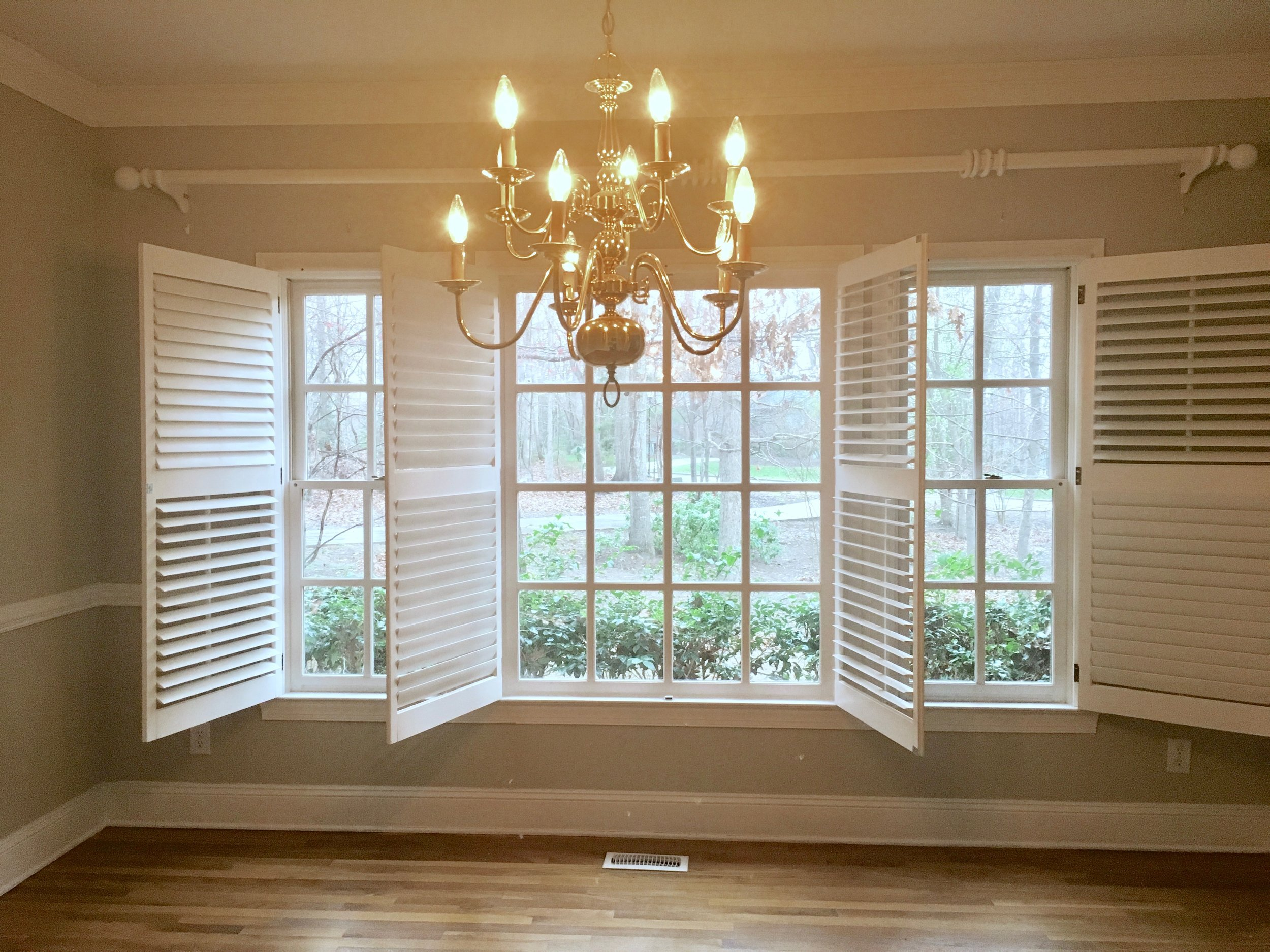 formal dining room and window