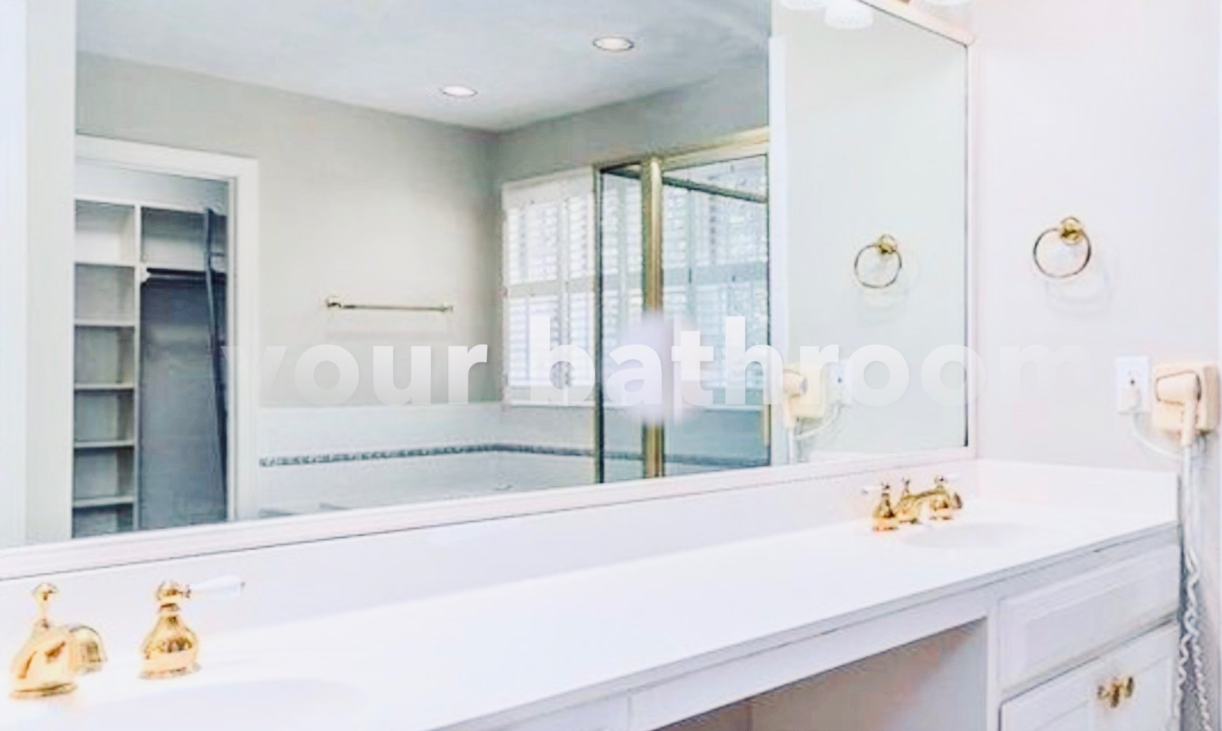 just double sink and mirror