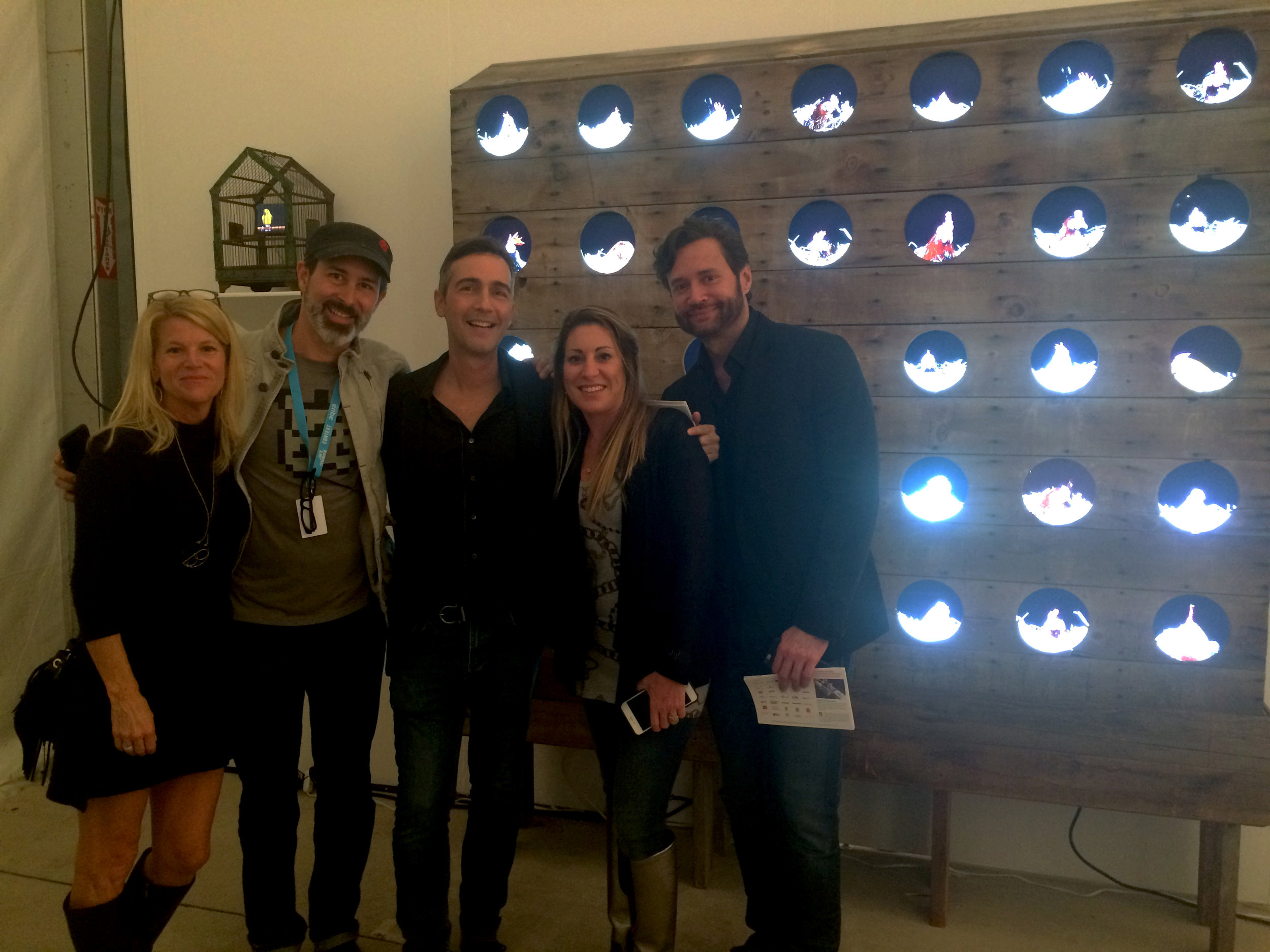 With some great friends and artists. Artist Troy Abbott, his art installation featured behind us, is to my immediate right and photographer Troy Campbell in the middle.