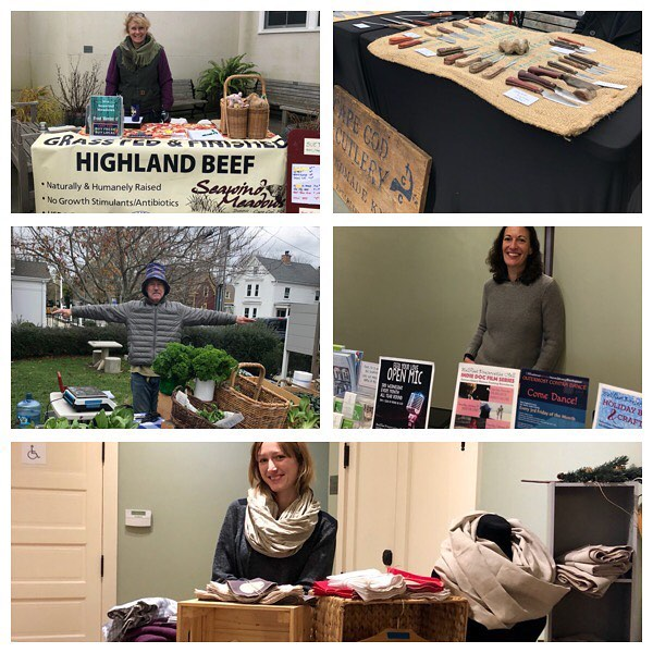 If you're out and about our Annual Harvest Market@is on til 1 at Wellfleet Preservation Hall @prezhall  Our musical is provided by The Beet Greens ... You'll find hot coffee, tea, Chocolate, pastries, quiche, frittata and more for tasty eats. Stock up on: shrubs, vinegars, kombucha, eggs, cheese,  hummus, beans, melons, eggplant, Jerusalem artichokes, peppers, greens, cucumbers, potatoes, tomatoes, squash, apples, cranberries, pears, herbs, honey, fresh cut flowers.  You can also get some shopping done, we've got many handmade items: Woven baskets, Christmas ornaments, blankets, hats, candles, soaps, Cape Cod Gingerbread lighthouses, bags, linen scarves, tea towels, Eco-hostess and home warming gifts, and much more .... #buyfreshbuylocal #getfreshwithafarmer @wellfleetfarmersmarket  #capecrafterscove  @capecodhummus  @capecodkombucha  @daves_greens  #downhomefarmcapecod  @elixirconfectionscapecod  #emeraldacre  #GoodGracesBaskets  @lolaslocalfoodlab  #narrowlandfarm #nestwoodfarm  #seawindmeadows  @sweetdaisiespastries  @thecaptainsdaughters  @thelocaljuice  @theoptimalkitchen  @thymeafterthymecapecod  #wellfleetchickkoop  @prezhall  @wildflour_bakery