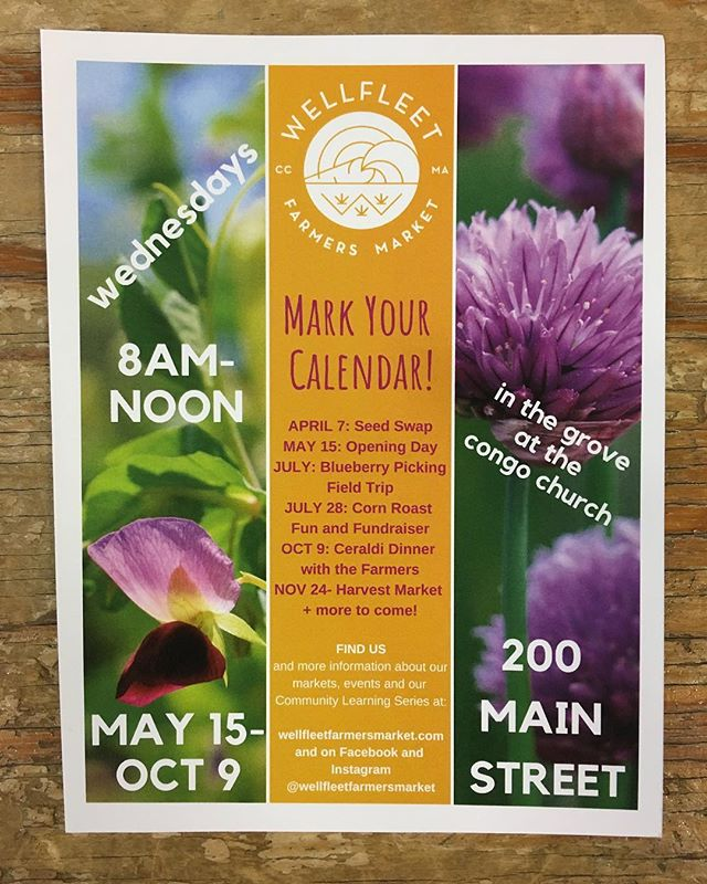 Oh, it's happening! We're gearing up for our 2019 season! Mark your calendars, folks. The market kicks off on May 15th!