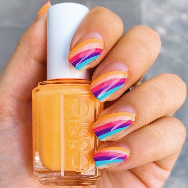 How will you do your nails for Senior pics?  All natural, classic nude or bright and bold?  Not sure? Don't worry, I'm am so close to sending out all the welcome packets for upcoming sessions and every one of them includes a skin and nail guide to prep for your session!  #Repost @essie ・・・ all about these summer stripes featuring new shades from #essiesummer2019 ☀️ photo: @missladyfinger