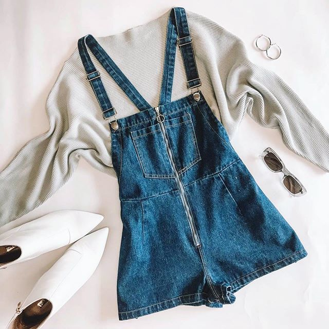 Going to grad parties this weekend?  Stay cozy and look cute at the same time!  This would also be such a cute casual look for senior pics!  Have you thought about your outfits yet? Check out #jephotogoutfitideas for more ideas! #fashionfriday #Repost @princesspollyboutique ・・・ Cosy X Cute ☁ our Outlaw Denim Overalls x Winters Spell Ribbed Top Light Grey x Creeper Sunglasses Crystal Grey x The Bronx Hoops Silver // Tap to shop!