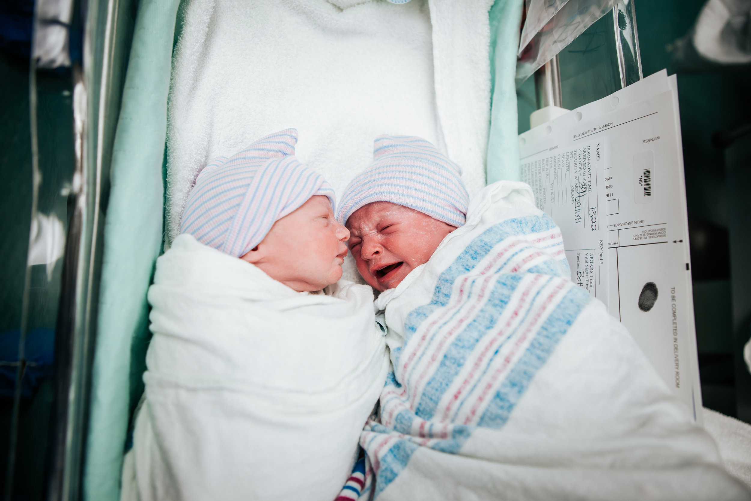 Twins born vaginally in the OR! With Dr Whitaker at Fort Walton Beach Medical Center.