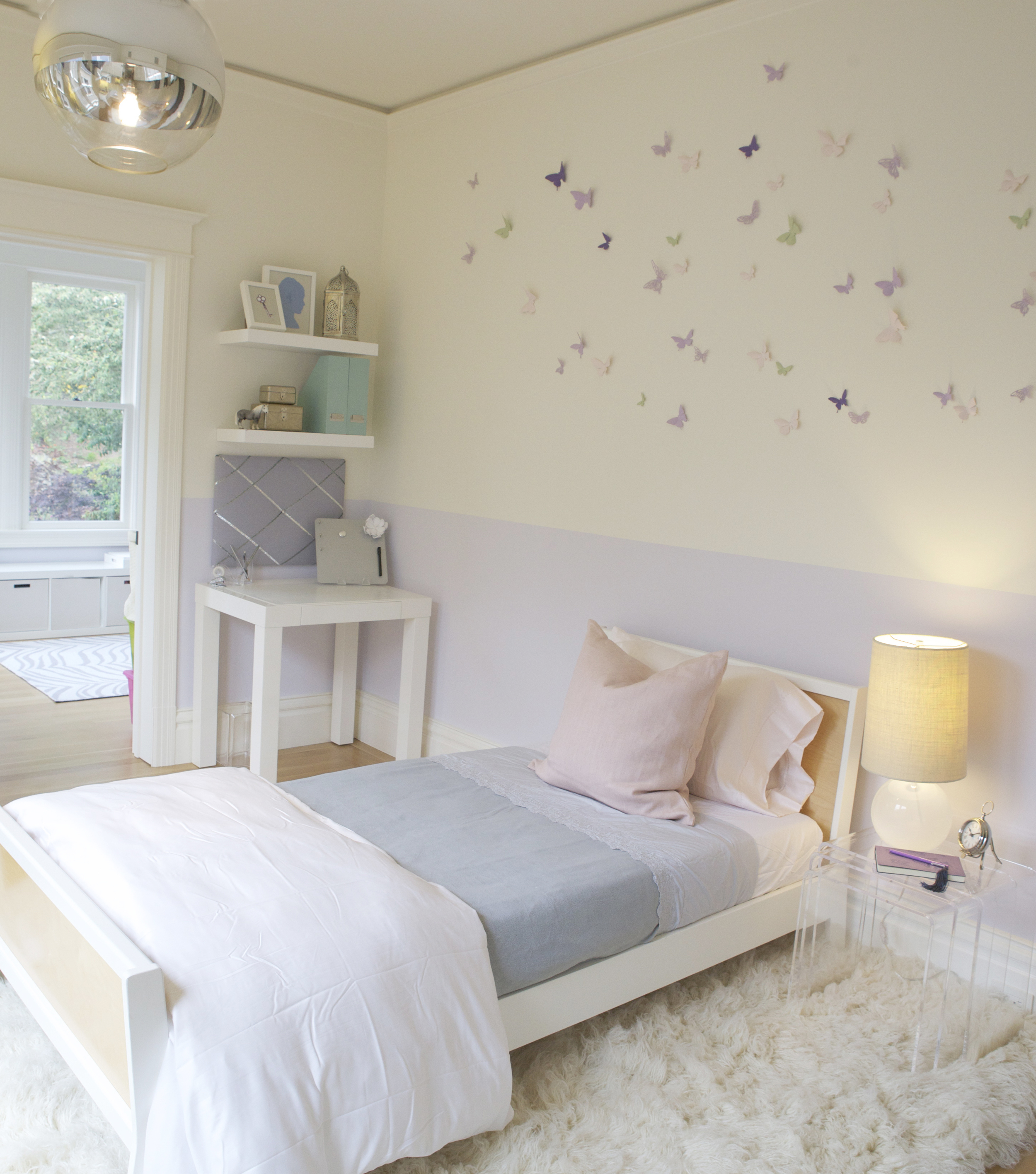 After : Girl's Bedroom : Interior Design Consult with EKR Design Studios
