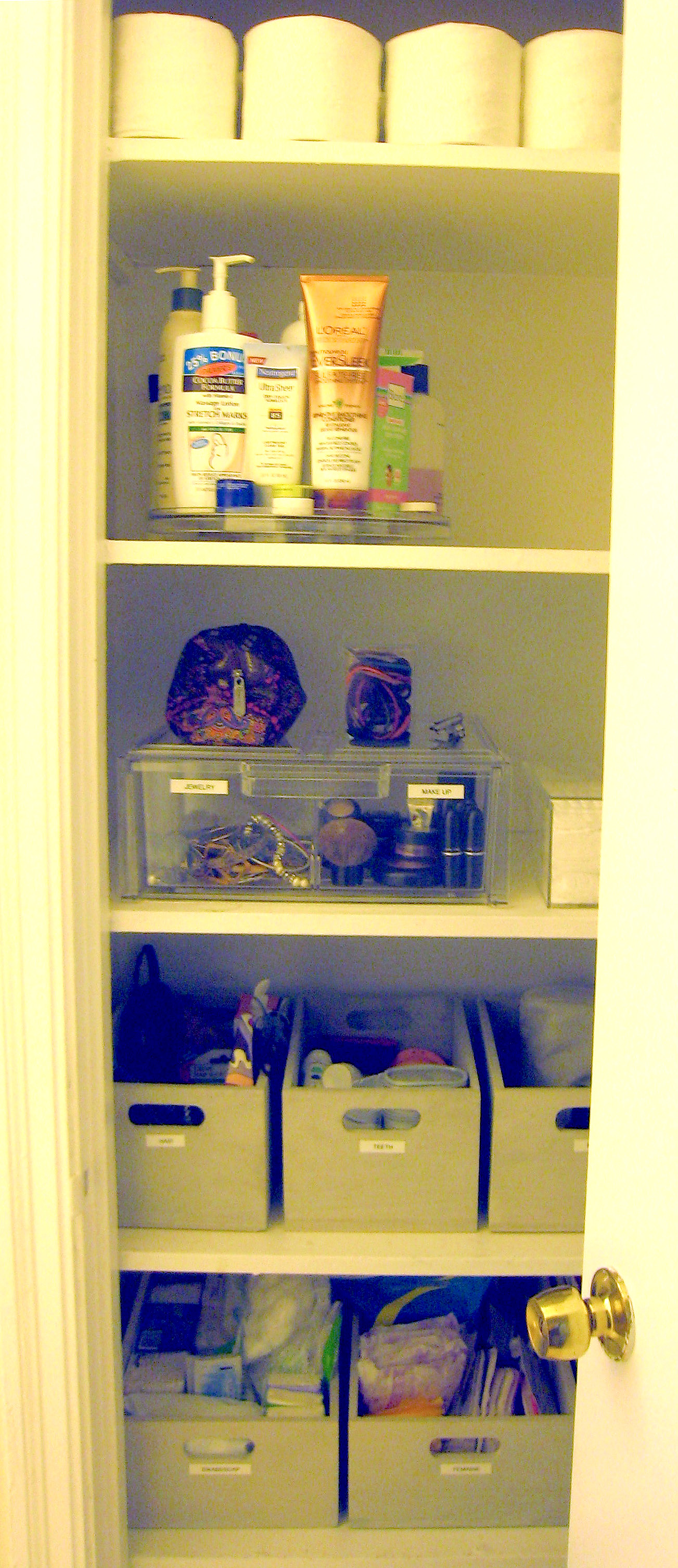 After : Bathroom Closet