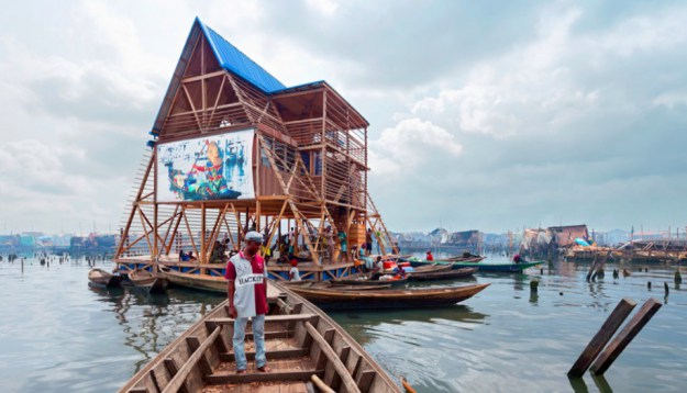 Makoko Aproach - Image courtesy of NLÉ, Iwan Baan.