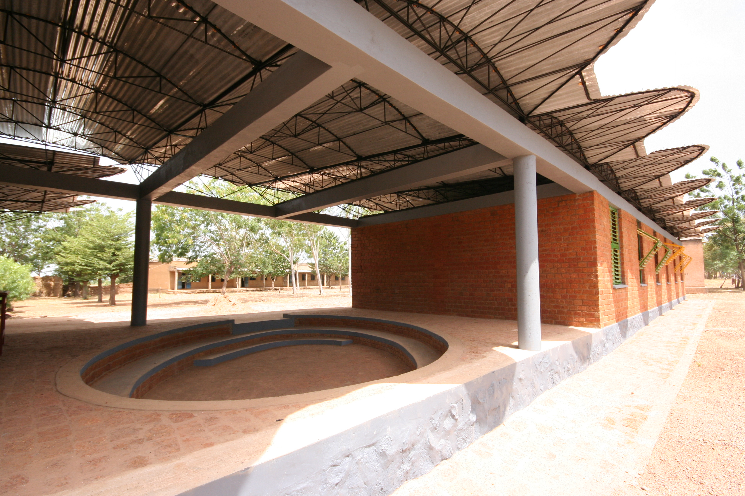 Secondary School in Dano, Burkina Faso by Francis Kéré - Image courtesy of Kéré Architecture