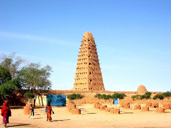 Mosquée d'Agadez, Niger, Construite au 16 ème siècle