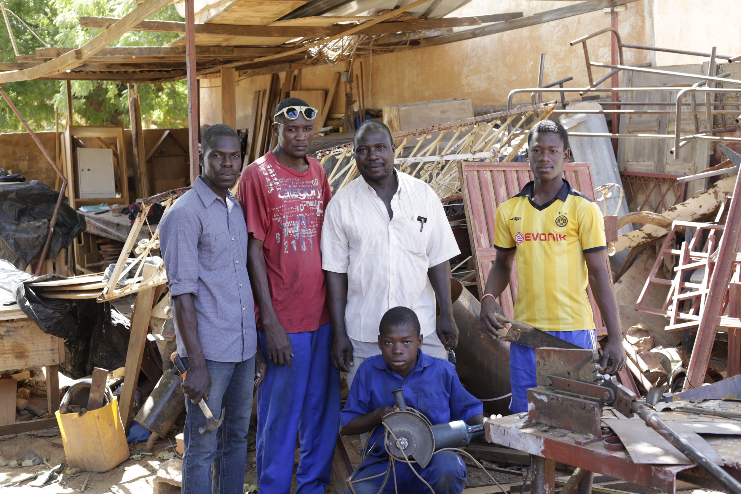 "Metal fabrication team AKA ""the miracle workers"".Image by Torsten Seidel"