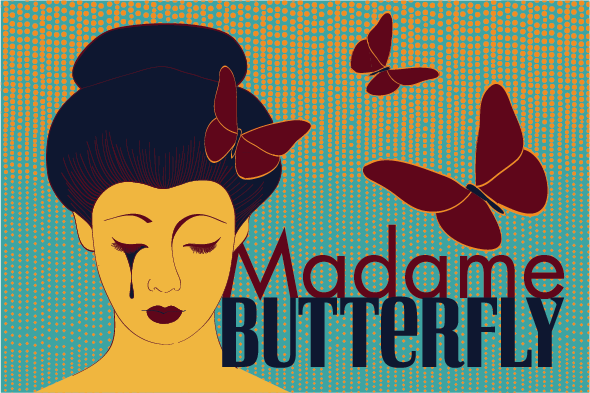 Madame Butterfly Postcard
