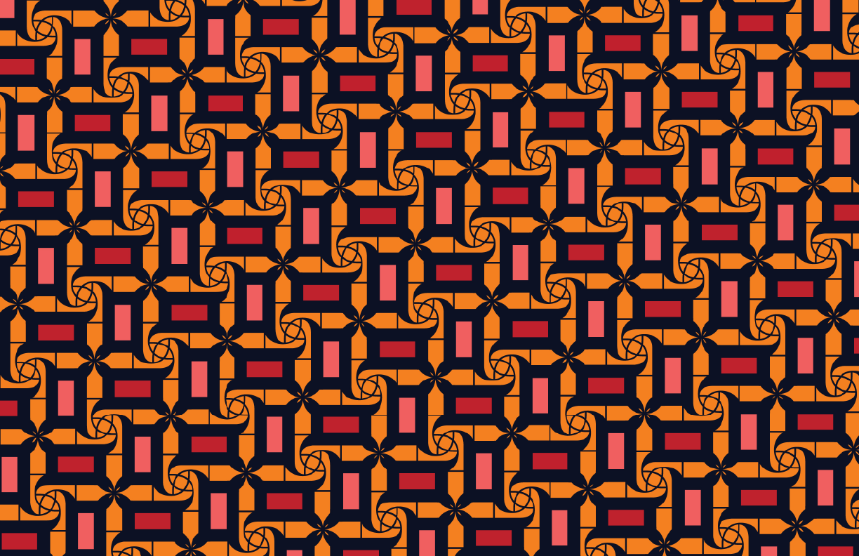 Effy Print Coral/Tangerine