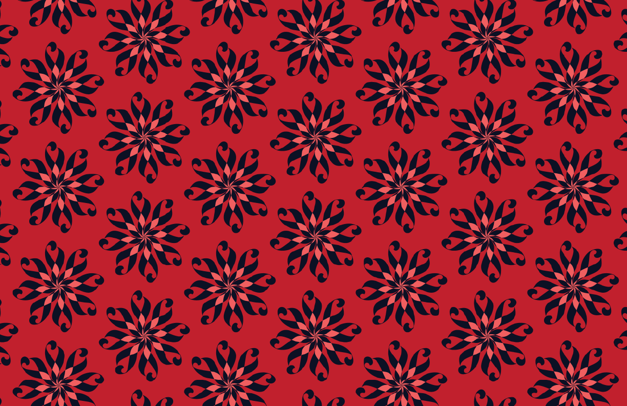 Lily Print Coral