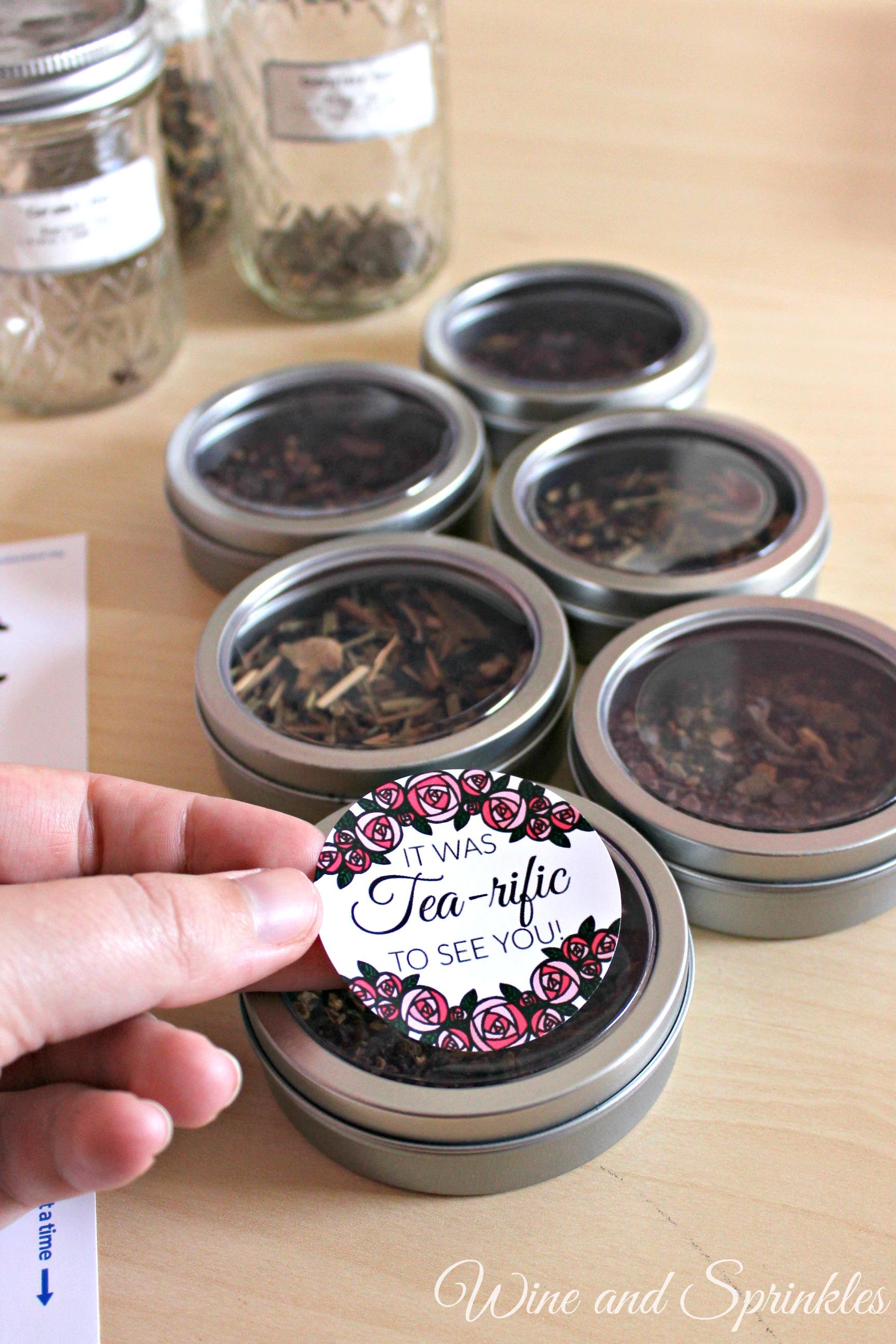 DIY Loose Tea Tin Favors #diywedding #printables