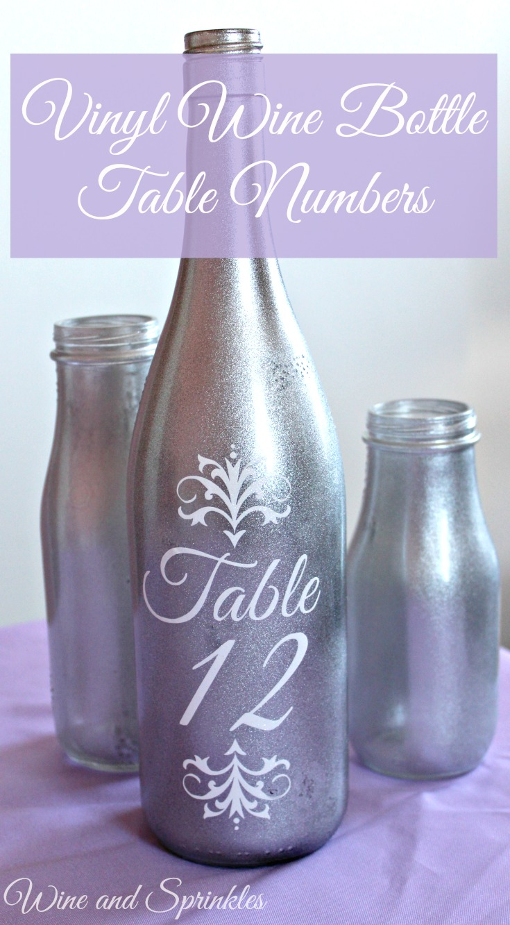 Vinyl Wine Bottle Table Numbers #svgfiles #winebottle #diywedding
