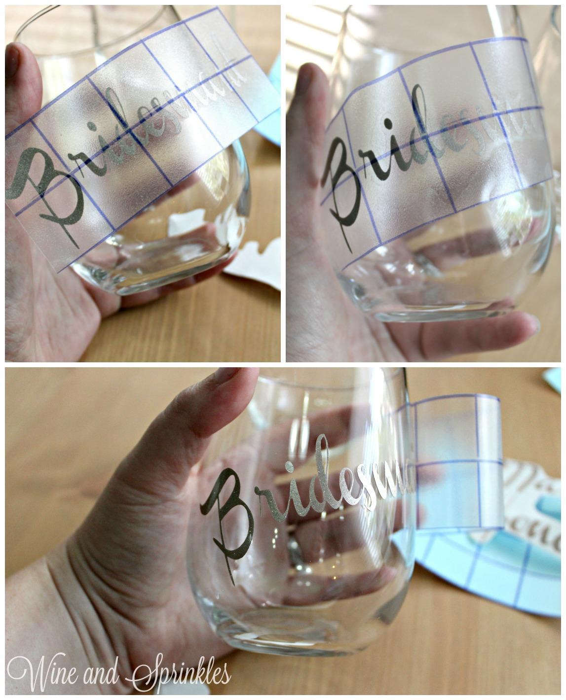 DIY Bridesmaid Wine Glasses #bridesmaid #bridesmaidproposal