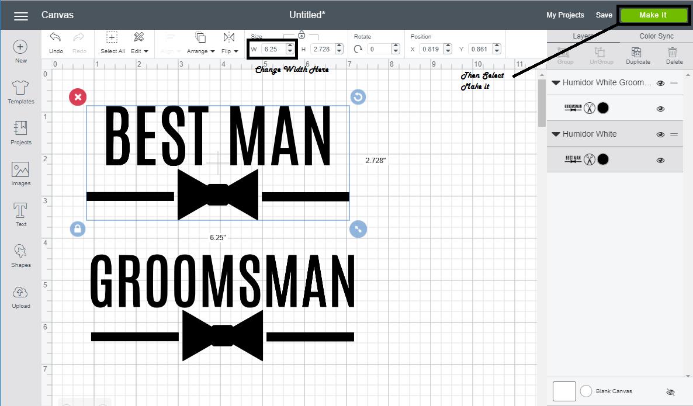 DIY Groomsman Humidor #groomsman #bestman #groomsmangifts