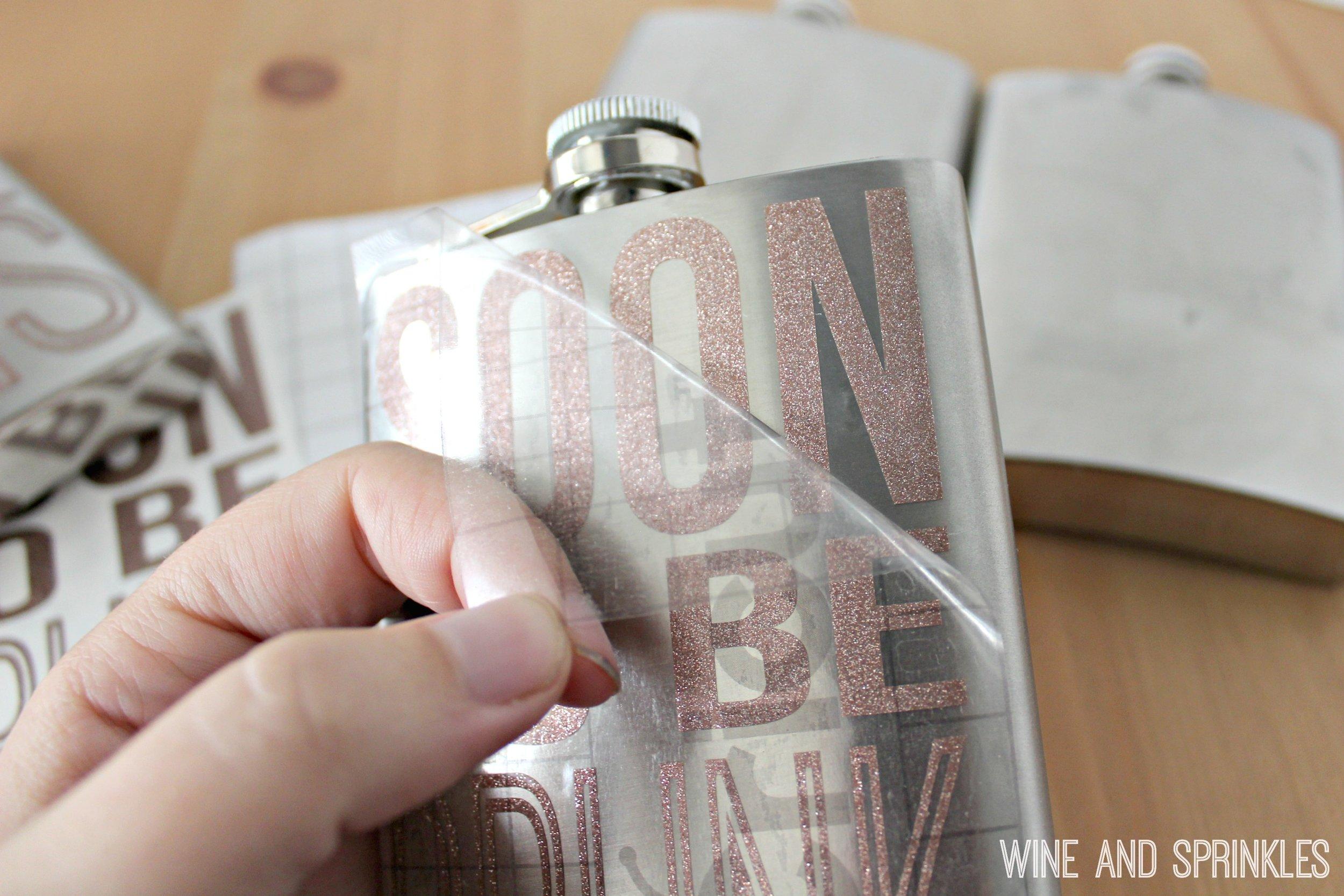Free Cut Files! - DIY Soon to be Drunk Bachelorette Party Flasks #diybachelorette #bachelorette #cricutprojects