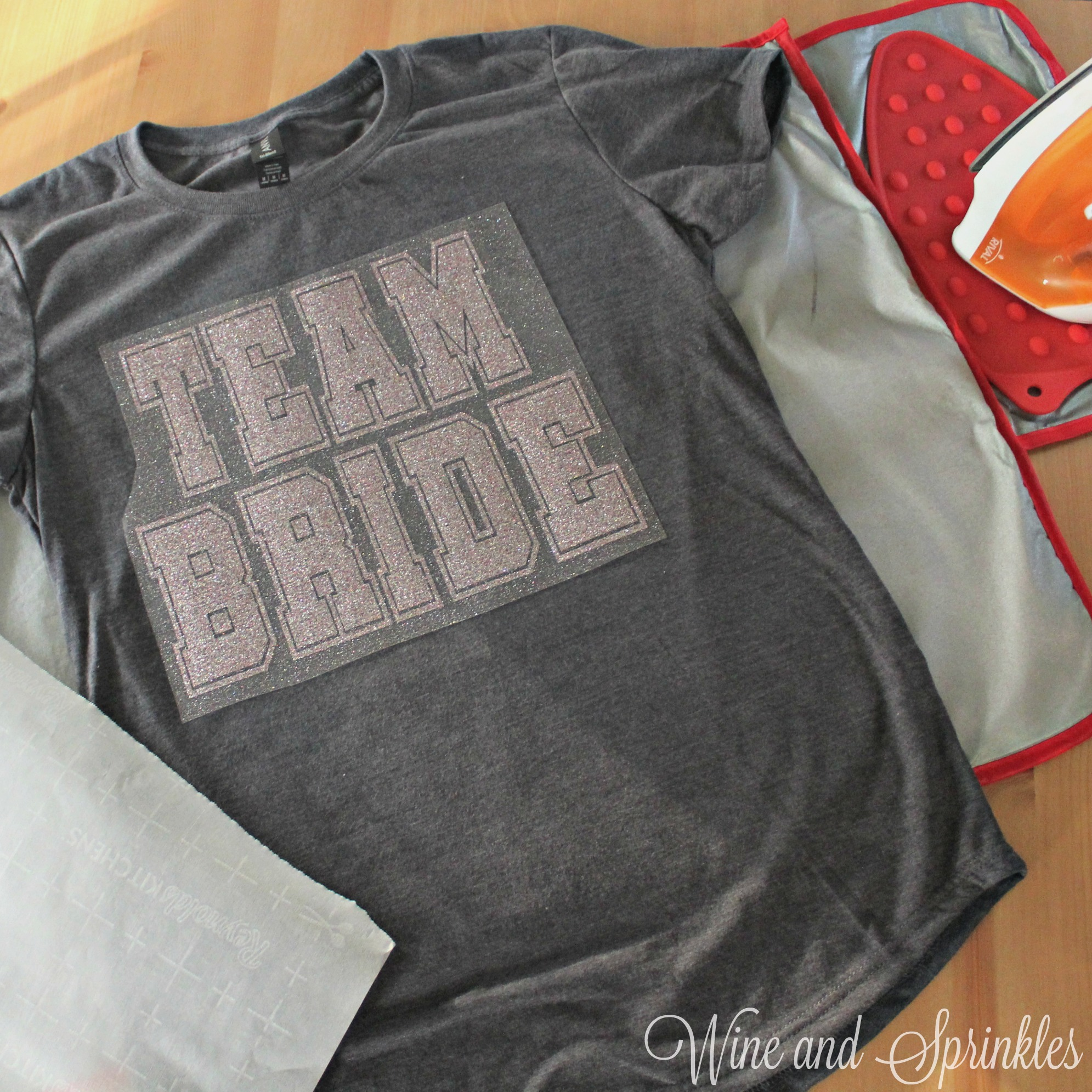 1. placement with text.jpgDIY HTV Iron On Sporty Team Bride T Shirts #svgfiles #teambride #diywedding
