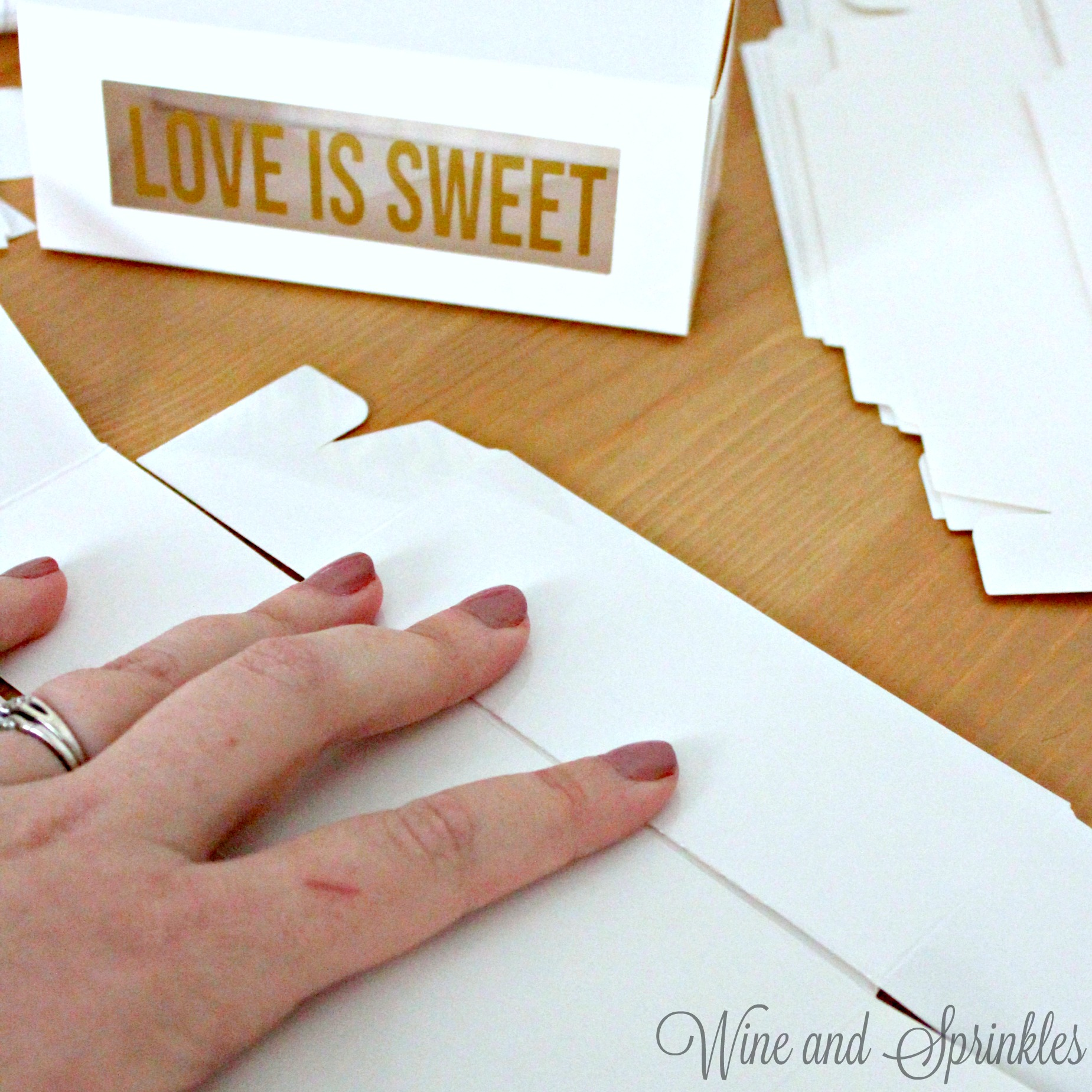 Be Our Guest Macaron Box DIY Wedding Favors #diywedding #svgfiles #macaron