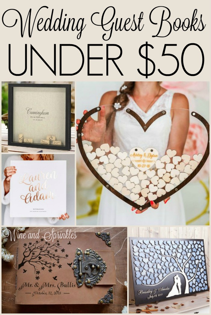 Unique Wedding Guestbooks Under $50 #guestbook #budgetwedding