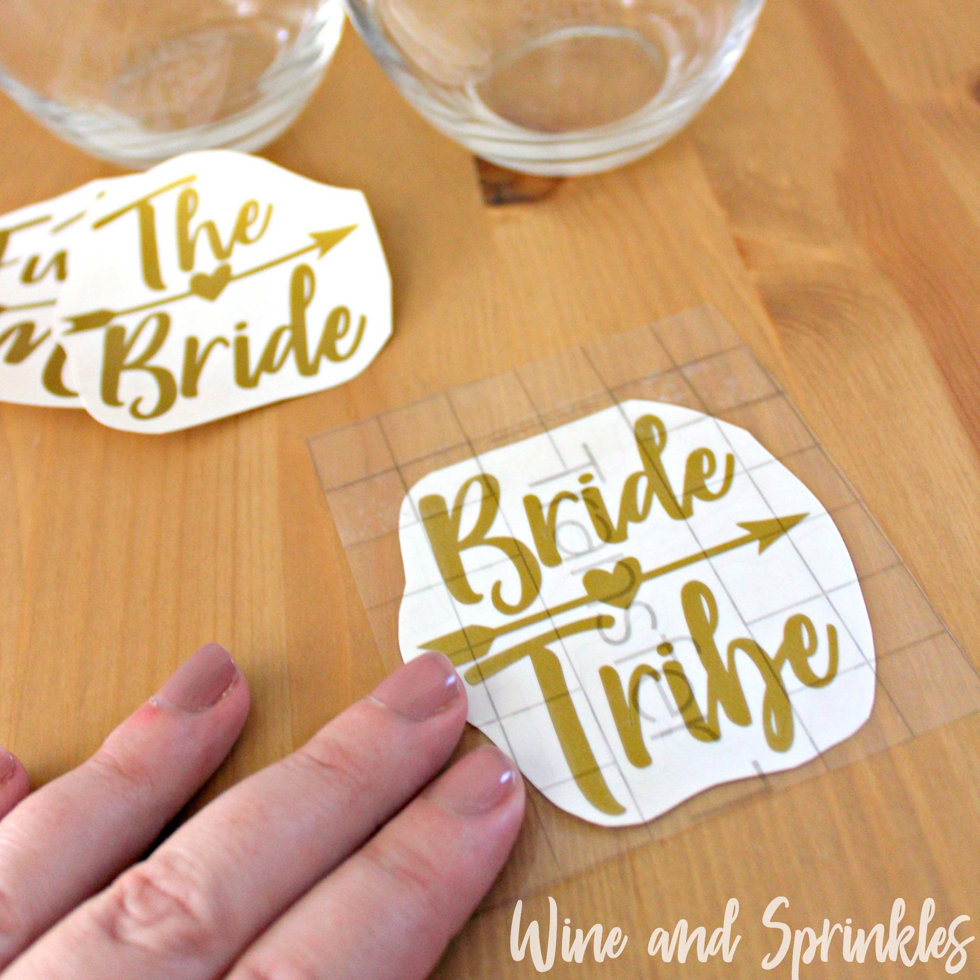DIY Bride Tribe Bridesmaid Wine Glasses #bridetribe #wineglass #bridesmaid