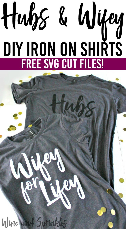 DIY Iron On HTV Honeymoon Hubs and Wifey Shirts and Tank Tops  #honeymoon #hubsandwifey #wifeyforlifey