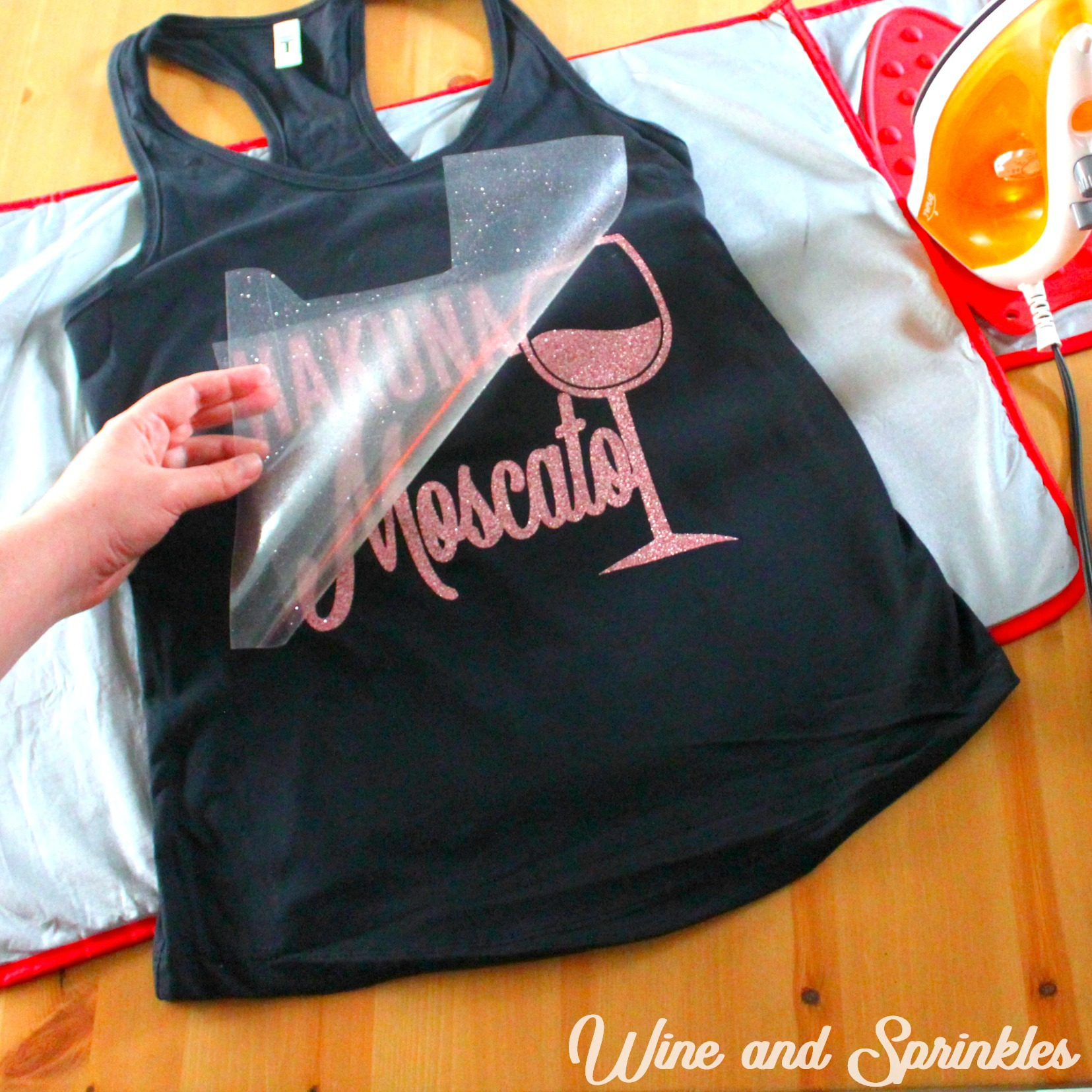 DIY Iron On HTV Wine Pun Bachelorette Tank Tops #bachelorette #wine #bachelorettediy