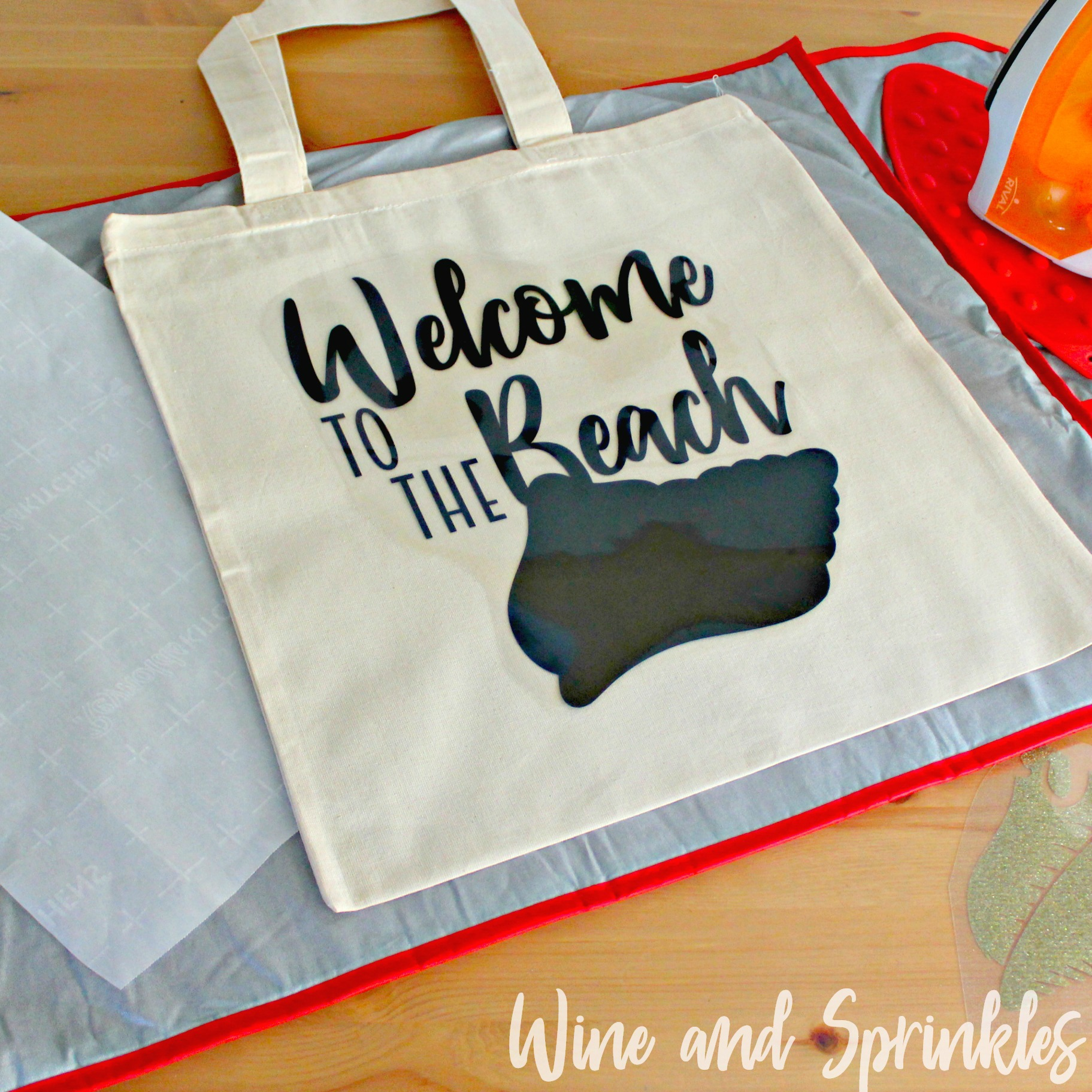 Welcome to the Beach Destination Wedding Guest Welcome Tote Bags #destinationwedding #diywedding #svgfiles
