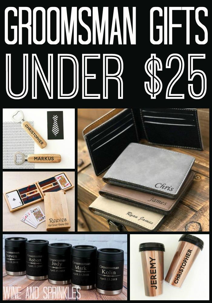 20 Groomsman Gifts Under $25 #groomsman #bestman #weddinggifts