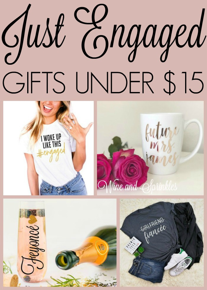 Just Engaged Gifts for New Brides Under $15 #engaged #futuremrs #feyonce #etsy