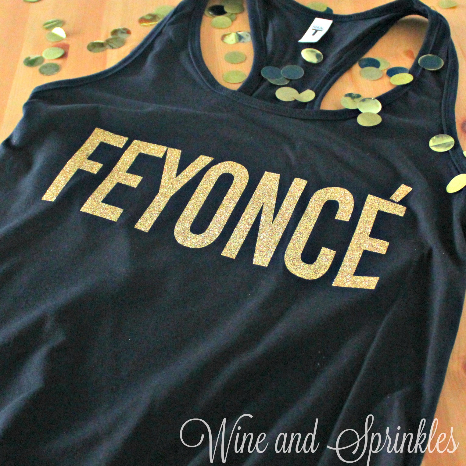 DIY HTV Iron On Feyonce Engagement Tank Top #feyonce #justengaged #diywedding