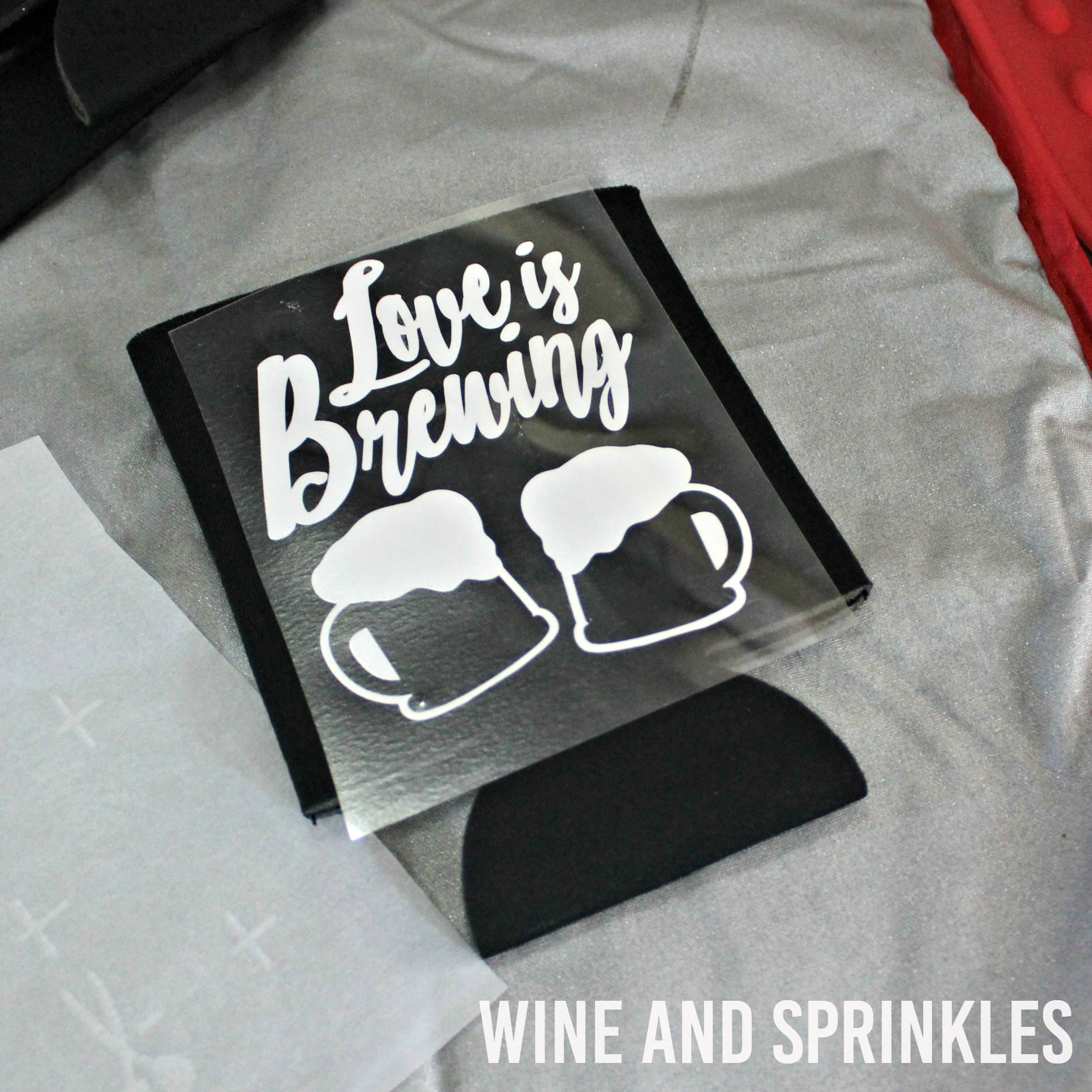 Love is Brewing DIY Wedding Koozies #koozies #diywedding #weddingfavor