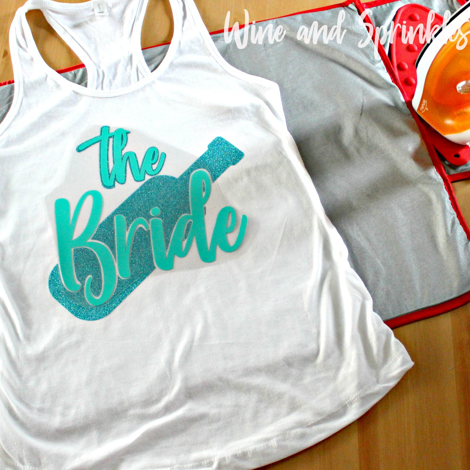 DIY HTV Iron On I Washed Up like this Bachelorette Tank Tops #bachelorette #beachbachelorette #svgfiles