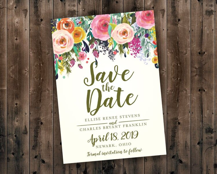 Cheap and Unique Save the Dates for $1 or Less #savethedatecards #weddingstationery #diywedding