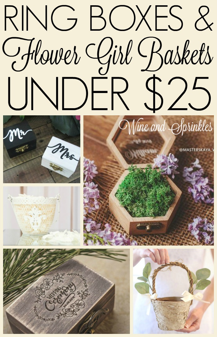 Ring Boxes and Flower Girl Petal Baskets Under $25 #budgetwedding #ringbox #flowergirl