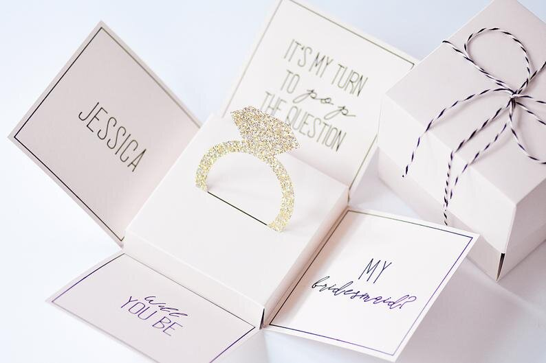 Bridal Party Proposal Box