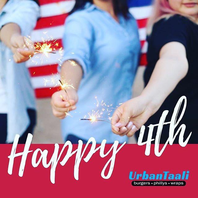 Happy Independence Day from UrbanTaali! How are you celebrating today? 🇺🇸🎇🎆 ⠀ -⠀ Don't forget we'll be open all day today 🇺🇸 ⠀ -⠀ #4thofJuly #IndependenceDay #Happy4th #Wings #Deal #UrbanTaali #FeastYourEyes #Wrap #Halal #StreetFood #AtlantaStreetFood #Phillys #Burgers #Fries #Yum #NomNom #FoodPorn #Foodie #Atlanta #Restaurant #Hotlanta #ATL #ATLFoodTrucks #FoodTruck #Delicious #Health #Yummy #Food #RiceBowl #Taalis