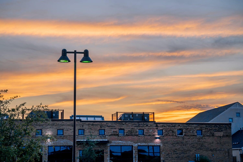 Sunset over Denton