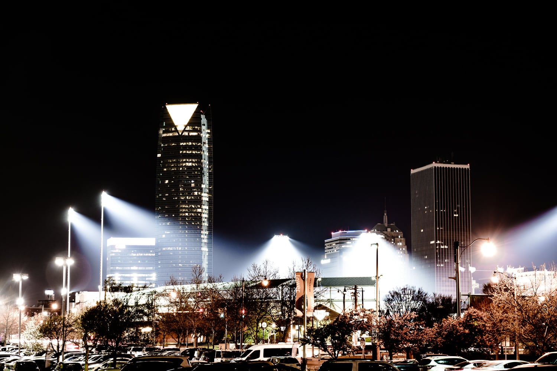 Downtown Oklahoma City.  75mm - 25 sec - f/6.3 - ISO 100