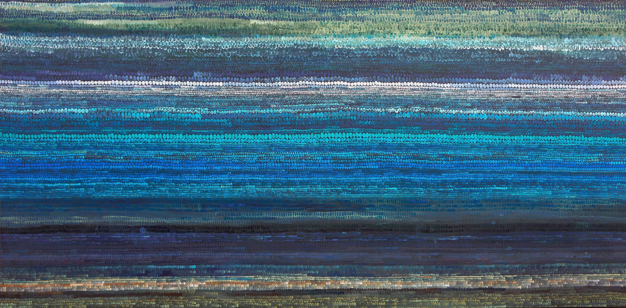 Tide Prayer, acrylic on canvas, 30 x 60 in, 2015