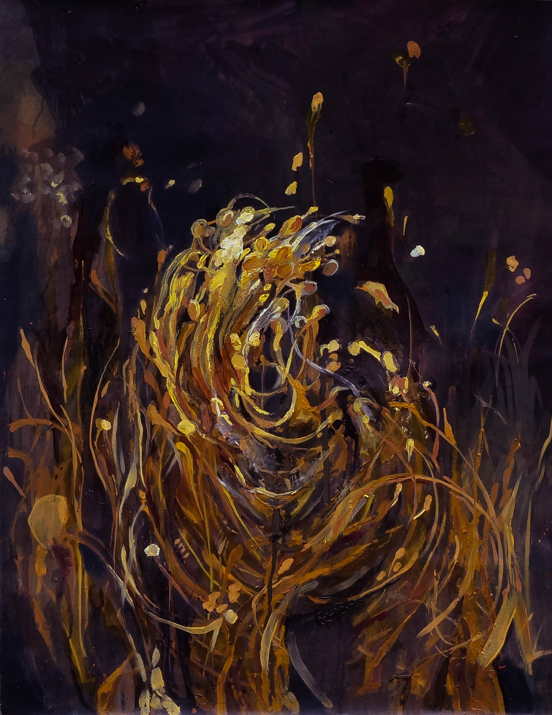 North Diamond Street Grass II, oil on canvas, 18 x 24 inches