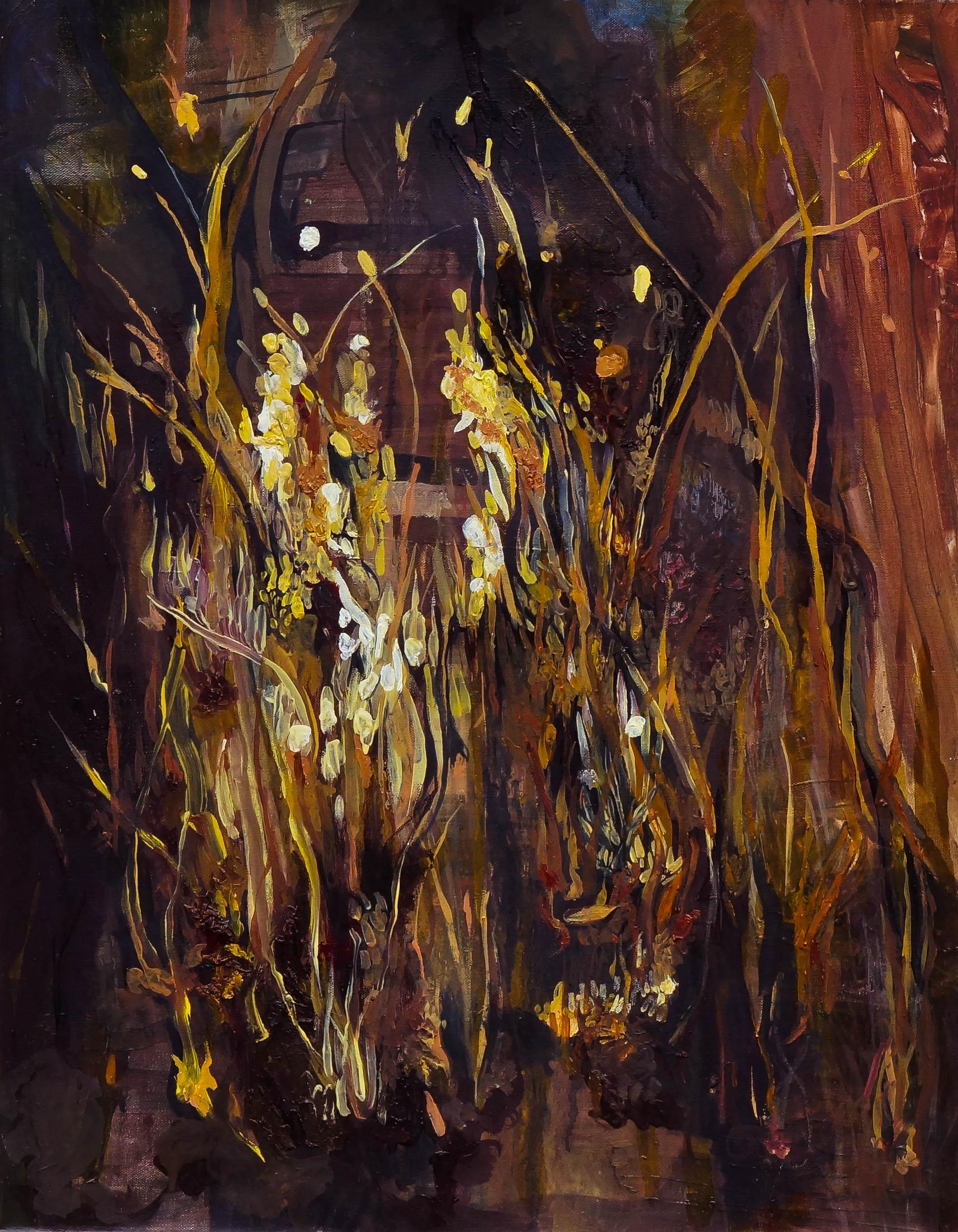 North Diamond Street Grass, oil on canvas, 18 x 24 inches