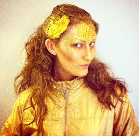 Jenny Drea as 'Spandau Ballet's Gold'.
