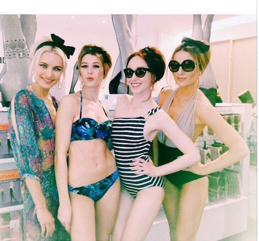 Swimwear ladies at Brown Thomas, Dublin