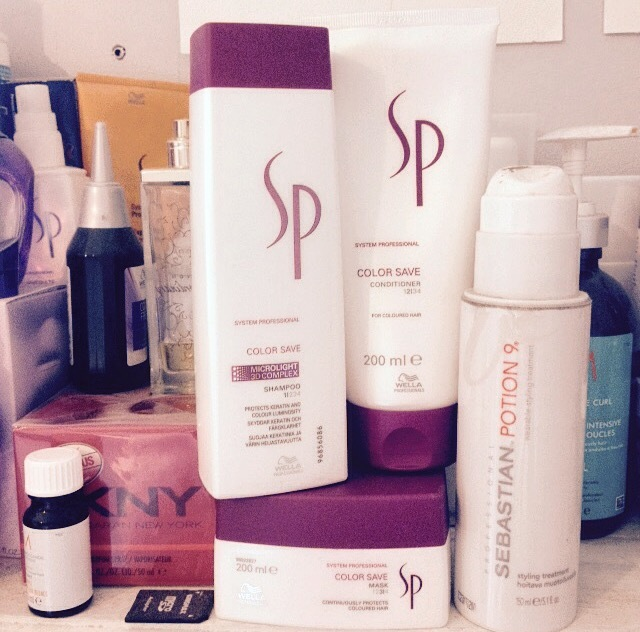 Wella SP colour save hair products