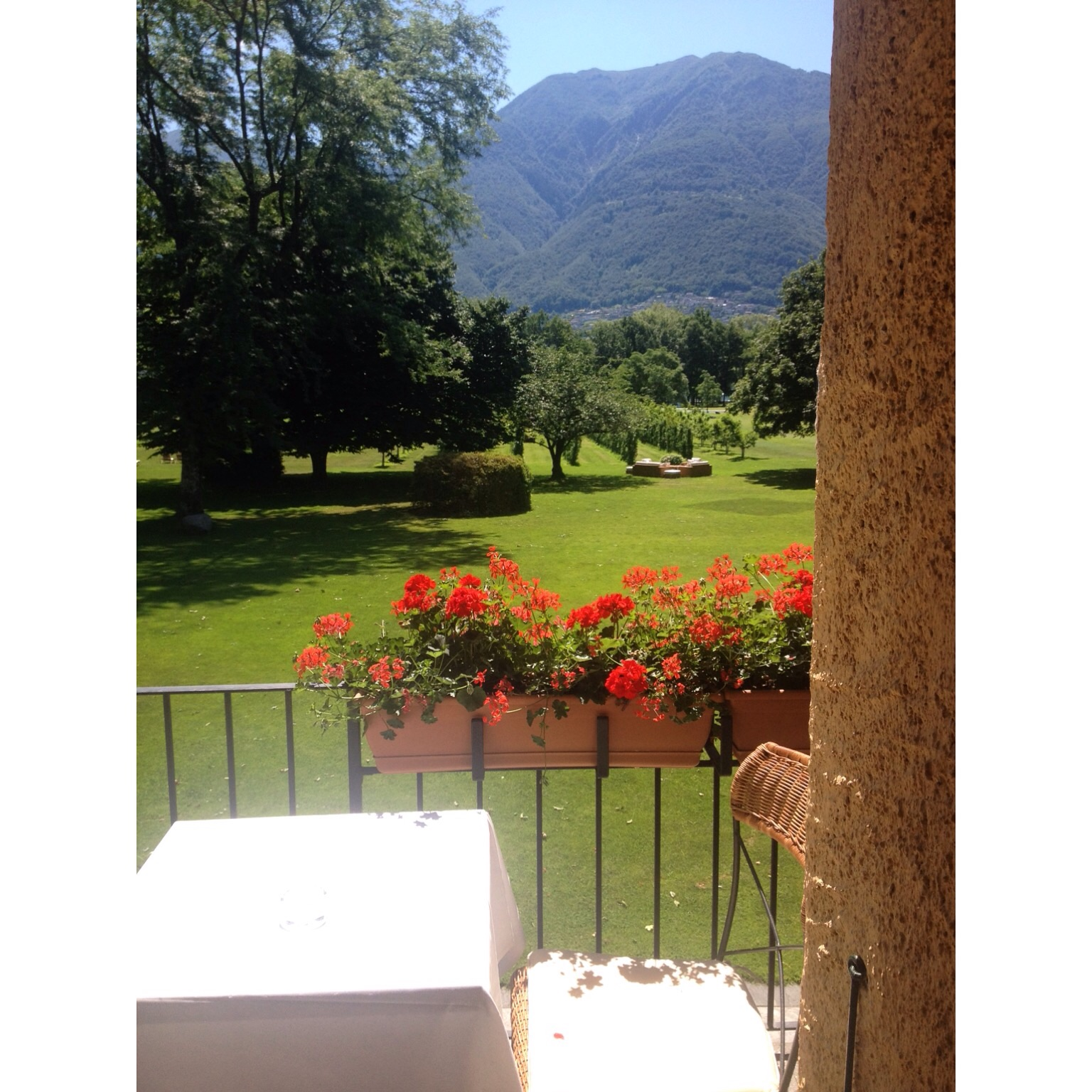 The view from the bed at Hotel Castello Del Sole